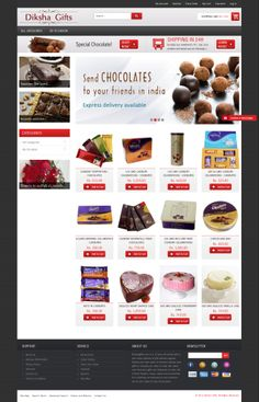 E-commerce Website Design for Diksha Gifts