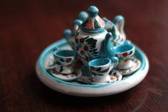 Miniature Mexican Decorative Tea Set