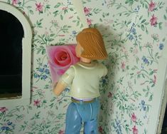 """Join me this week for another Trash to Treasure Thursday project as I show you some super simple wall art for the dollhouse, Barbie's house or your 18"""" doll'..."""