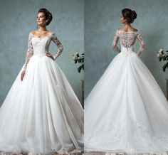 New Sexy Lace Long Sleeves Wedding Dresses Off The Shoulder A Line Wedding Dresses Tulle Appliqued Court Train Bridal Gown Maternity Wedding Dresses Modest Wedding Dresses From Orient2012, $136.9| Dhgate.Com