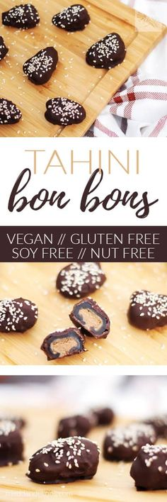 These little Tahini Bon Bons take just minutes to make, and taste like candy bars, even though they are secretly dates in disguise! Bonus: they're nut free + gluten free!