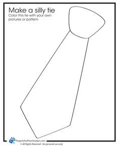 Great tie template. Print it out, get you toddler to paint