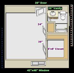 Como dise ar un ba o con vestidor buscar con google for Room design 11x13
