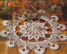 Crochet Doily Diagram, Filet Crochet, Crochet Motif, Bird Curtains, Floral Curtains, Oblong Tablecloth, Crochet Tablecloth, Lace Doilies, Crochet Doilies