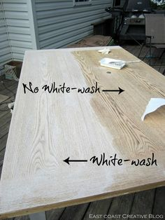 East Coast Creative: Refinished Dining Room Table {Furniture Makeover}
