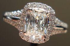 Halo diamond rings | Cushion cut | Quality workmanship