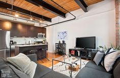 Toy Factory Lofts-43 Hanna Ave #229 Scavolini Kitchens, Lofts For Rent, Post And Beam, Wood Ceilings, Granite Counters, Stainless Steel Appliances, Exposed Brick, Corner Desk, The Originals