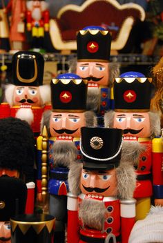 Munich Christmas Market - Nutcrackers Love...love...love!! No tree would be complete without a Nutcracker ornament
