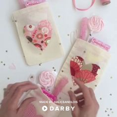 DIY this Adorable Valentine's Favor Bag! 100+ Valentine DIYs at Darby Smart #valentines #gifts #diy