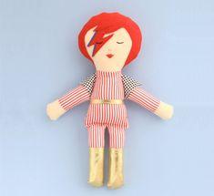 David Bowie Doll / Plushie #DavidBowie #bowie #bowiebaby #bowieicon #bowiedecor #kidsdecor