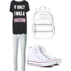 School by alannaxjonnesx on Polyvore featuring polyvore, fashion, style, Citizens of Humanity, Boohoo, Converse and MARC BY MARC JACOBS