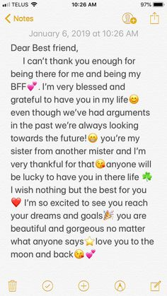 58 Ideas Quotes Birthday Friendship Bff For 2019 Friendship Quotes Happy Birthday Best Friend Quotes, Birthday Quotes For Best Friend, Birthday Cards For Friends, Quotes For Best Friends, Letter For Best Friend, Best Friend Messages, Best Friend Notes, Happy Birthday Text, Birthday Bestfriend Quotes