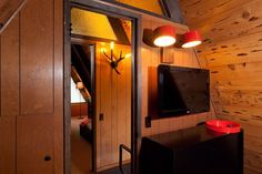 This A-frame cabin was re-imagined by Littrell Architecture Interiors.