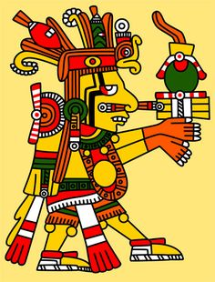 "Centeotl: was the Aztec god of Maize. His name means ""Maize cob Lord"" or ""the Dried Ear of the Maize God"", and he represents the Aztec version of a more ancient and pan-Mesoamerican deity. Centeotl was the son of Tlazolteotl, the goddess of fertility and childbirth, and husband of Xochiquetzal."