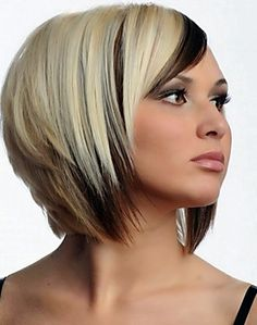 Love the color and cut. Can't pull off the cut way to short for me. But love it