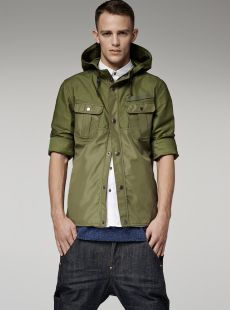 FILCH BONDED HOODED OVERSHIRT