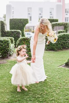 Flower girl with green basket  Hair—Flower Girls  Pinterest ...