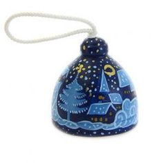 Winter scenery bell, $6.00.  A wonderful gift for you and your loved ones! #christmas #gift #ceramic #glaze #poterry #bell #home #happy #family #handmade #workshop #festive #buy #order #decoration #feast #winter #holynight