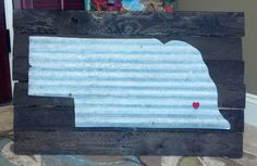 State of Nebraska on pallet wood. We can do any state! $85