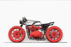 Triumph Cafe Racer Design BlackMoon by Ivan Schuler #design #motorcycles #motos | caferacerpasion.com Bobber Custom, Triumph Cafe Racer, Motorbike Design, Moto Cafe, Design Process, Motorbikes, Motorcycles, Engineering Design Process, Motorcycle