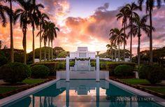 Laie Fountain Sunset