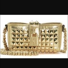New $168 Juicy Couture Studded Mini Crossbody Bag ⚡️FINAL PRICE⚡️ NWT $168 Juicy Couture lil golden studded mini Crossbody bag. Also on ♏️! Bundle and save  Juicy Couture Bags Crossbody Bags