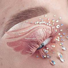 Cute Eye Makeup, Creative Eye Makeup, Unique Makeup, Daily Makeup, Pink Makeup, Crazy Makeup, Glitter Makeup, Pretty Makeup, Graphic Makeup