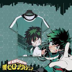 Boku no Hero Academia Midoriya Izuku Bakugou Katsuki T-shirt Cosplay Costume Summer Fashion My Hero Academia Short Sleeve Tees