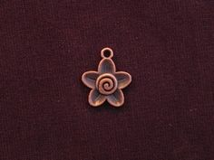 Charm Antique Copper Colored Flower With Swirl Center Copper Color, Antique Copper, Brooch, Charmed, Jewellery, Antiques, Flowers, Antiquities, Jewels