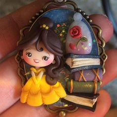 Polymer Clay Princess, Polymer Clay Disney, Polymer Clay Figures, Polymer Clay Dolls, Polymer Clay Miniatures, Polymer Clay Charms, Polymer Clay Projects, Polymer Clay Creations, Polymer Clay Pendant