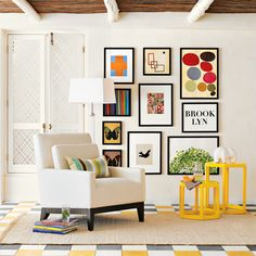 Love the arrangement of the large prints! Great for those walls that look like they're missing something.