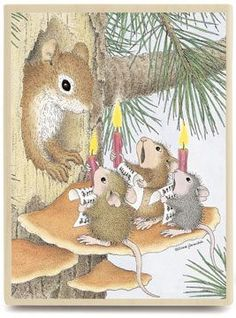 Christmas carols ~ I love these little singing mice (my sickness, I know)