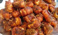 Finger-Licking Bacon-Wrapped Chicken Bites: Snacks that Keep Parties Fun - http://www.awesomehomerecipes.com/bacon-wrapped-chicken-bites/