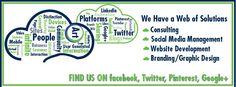 Facebook, Twitter, Pinterest, G+