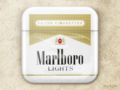 Dribbble - Marlboro Lights icon by David Im