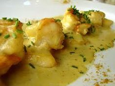 Scampi in curry saus with coconut milk - Dutch Recipes, Clean Recipes, Healthy Recipes, Scampi Curry, Seafood Recipes, Indian Food Recipes, Curry Pasta, Food Vans, Good Food