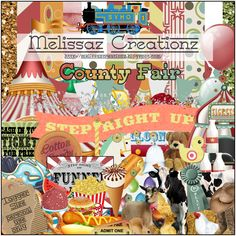 """Melissaz Creationz: Scrappin' Your ♥ Out Blog Train- """"County Fair"""""""