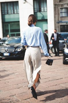 Milan_Fashion_Week_Spring_Summer_15-MFW-Street_Style-Blue_Shirt-Patricia_Manfield-