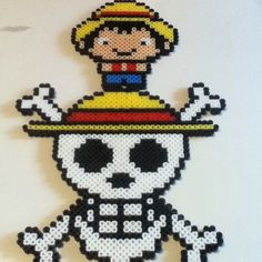 One Piece perler beads by nicolaspimms