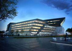 Zaha Hadid's Library and Learning Center