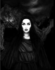 Hecate, Greek goddess of the three paths, guardian of the household, protector… Hecate Goddess, Goddess Art, Lillith Goddess, Beautiful Witch, Beautiful Dark Art, Mythology Books, Legends And Myths, Triple Goddess, Witch Art