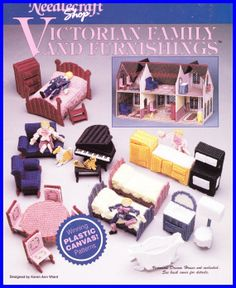 Victorian DOLL HOUSE FURNITURE Plastic Canvas pattern on Etsy