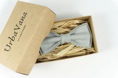 Bow tie Navy Arrow bow tiePlaid bow tie for baby groomsmen Clip on Blue men wedding pre- tied ring bearer