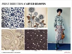 Spring/Summer 2017 Print & Pattern Trend Report - Carved Blooms