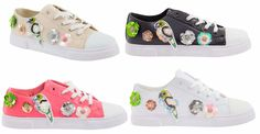 Womens Sneakers Trainers Ladies Girls BIRD FLOWER Applique Shoes Fashion Lace Up #Unbranded #Trainers