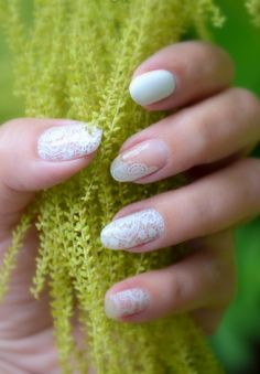lace nail art 17 - 50+ Intricate Lace Nail Art Designs