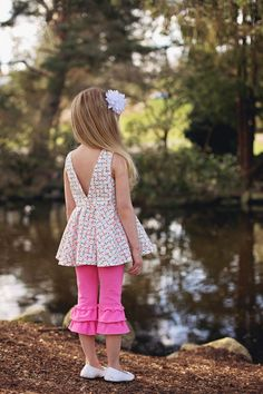 Simple Life Pattern Company  Aydas V Back Peplum Top and Dress  Sizes 2t - 12  Difficulty Level: Advanced Beginner This top and dress