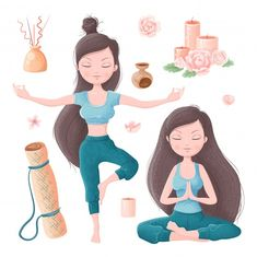 Ayurveda, Namaste Art, Yoga Information, Yoga Illustration, Yoga Pictures, Visualisation, Character Poses, Pilates Studio, Yoga Art