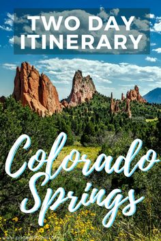 Here is the perfect two-day itinerary for Colorado Springs, Colorado. www.pagesoftravel.org Colorado Springs | Colorado | Road Trip