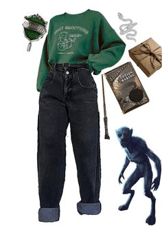 Edgy Outfits, Teen Fashion Outfits, Retro Outfits, Cute Casual Outfits, Harry Potter Style, Harry Potter Outfits, Harry Potter Clothing, Harry Potter Fashion, Harry Potter Merchandise